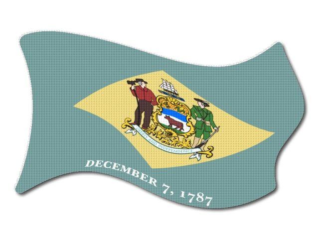 Vlajka Delaware vlající