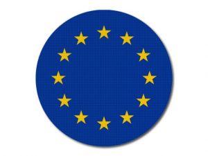 Vlajka EU kulatá tisk