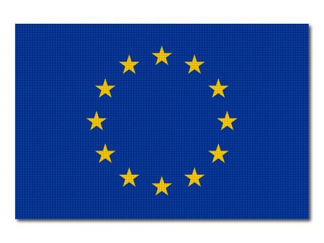 Tištěná vlajka evropské unie