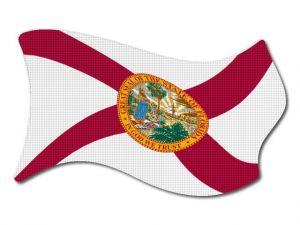 Vlajka Florida vlající