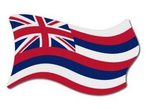 Vlajka Hawaii vlající