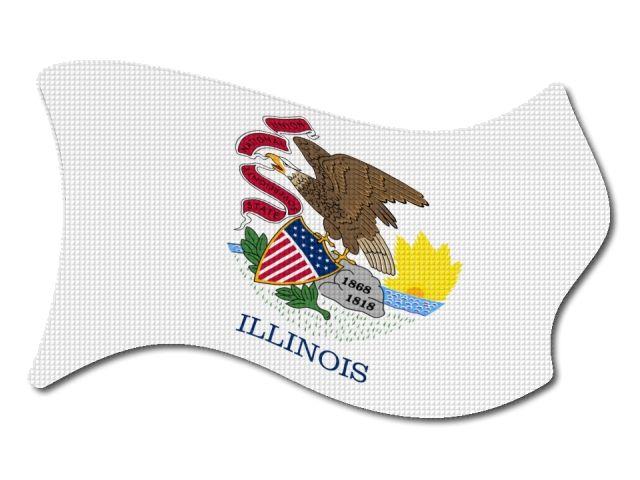 Vlajka Illinois vlající
