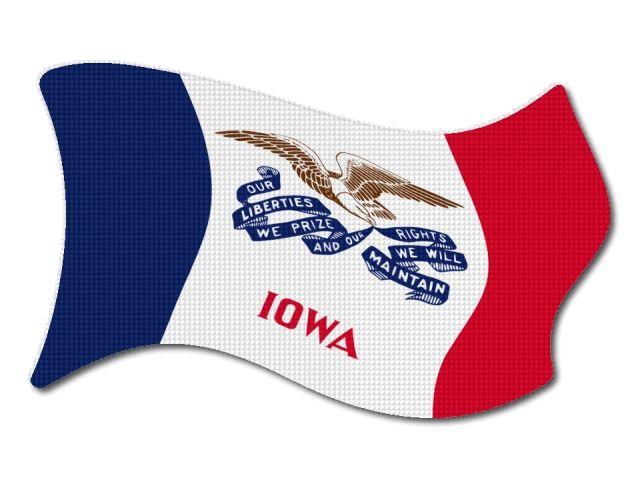 vlajka Iowa vlající