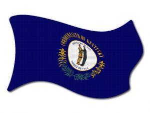 Vlajka Kentucky vlající