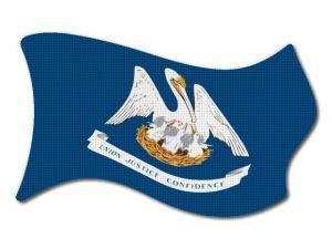 Vlajka Louisiana vlající