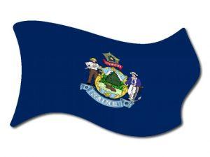 Vlajka Maine vlající