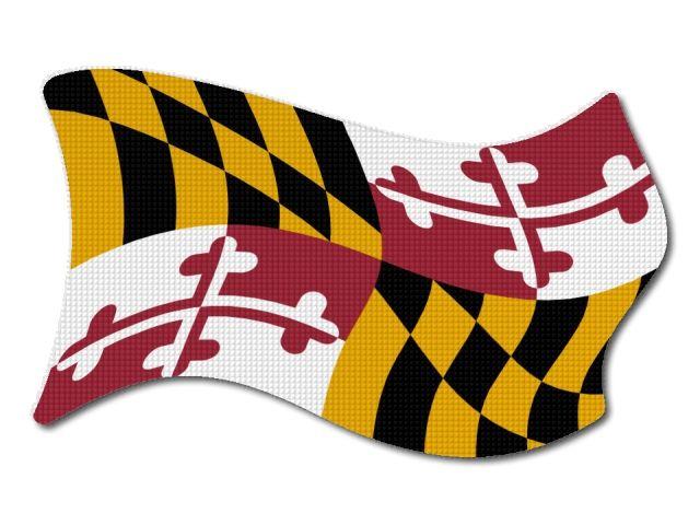 Vlajka Maryland vlající