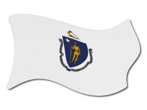 Vlajka Massachusetts vlající