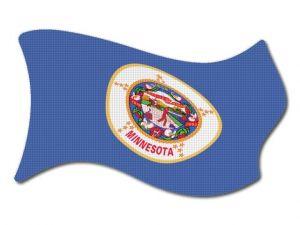 Vlajka Minnesota vlající