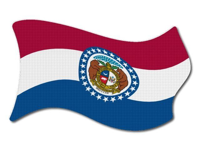 Vlajka Missouri vlající