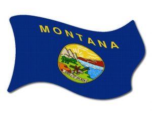 Vlajka Montana vlající