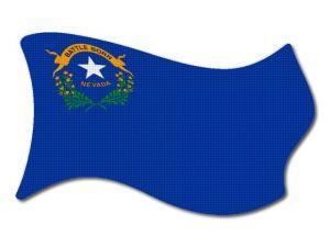 Vlajka Nevada vlající