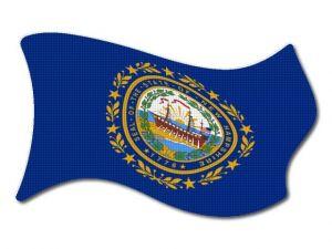 Vlajka New_Hampshire vlající