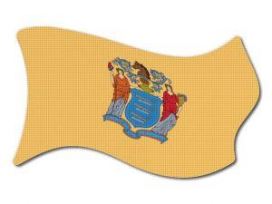 Vlajka New_Jersey vlající
