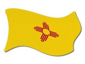 Vlajka New_Mexico vlající