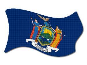 Vlajka New_York vlající