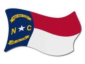 Vlajka North_Carolina vlající
