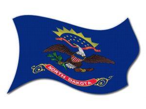 Vlajka North_Dakota vlající