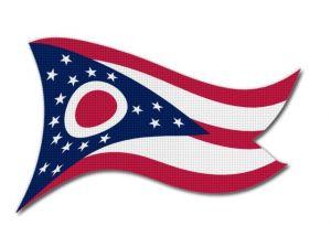 Vlajka Ohio vlající