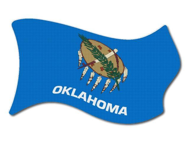 vlajka Oklahoma vlající