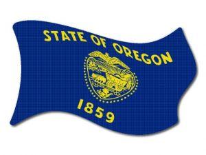 Vlajka Oregon vlající