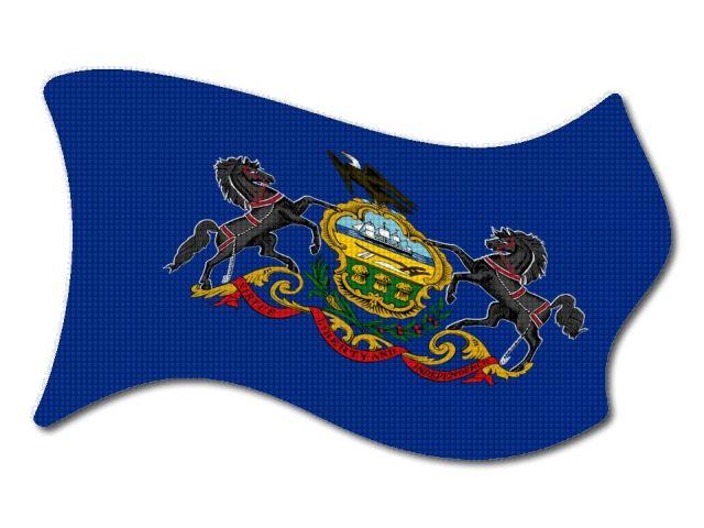 Vlajka Pensylvanie vlající