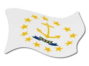 Vlajka Rhode_Island vlající