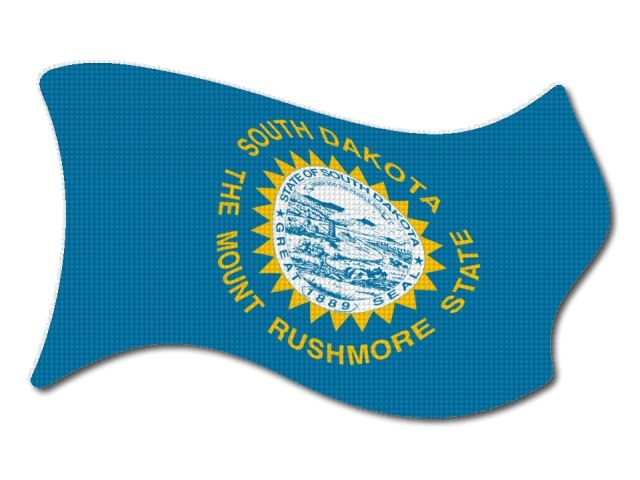 vlajka South_Dakota vlající