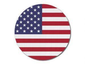 Vlajka USA kulatá tisk