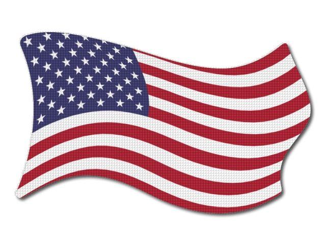 Vlajka USA vlající