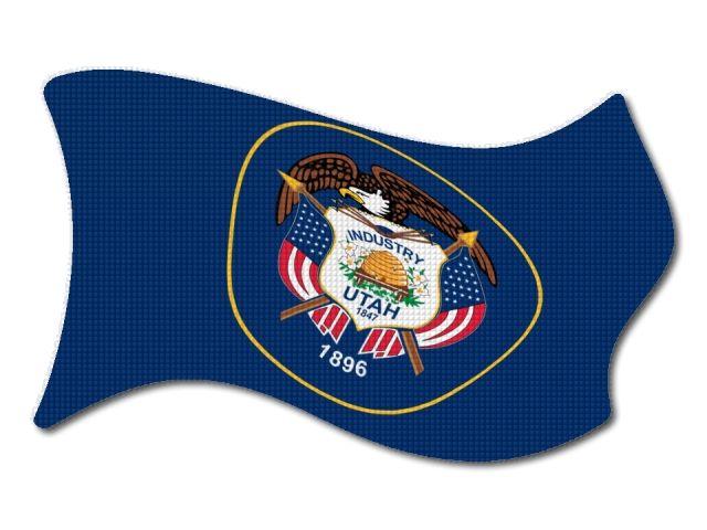 vlajka Utah vlající