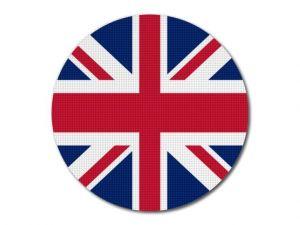 Vlajka Velké Británie kulatá tisk