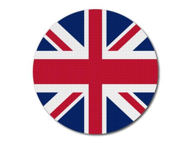 Tištěná britská vlajka kulatá