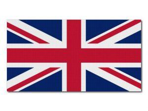 Tištěná britská vlajka