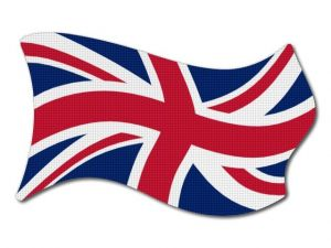 Vlajka Velké Británie vlající