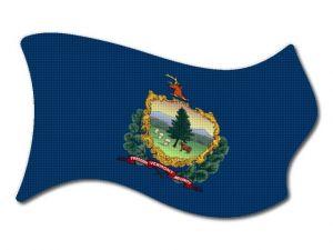 Vlajka Vermont vlající