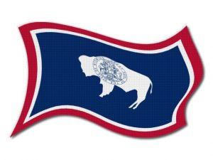 Vlajka Wyoming vlající