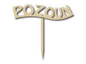 Zápich Pozoun text
