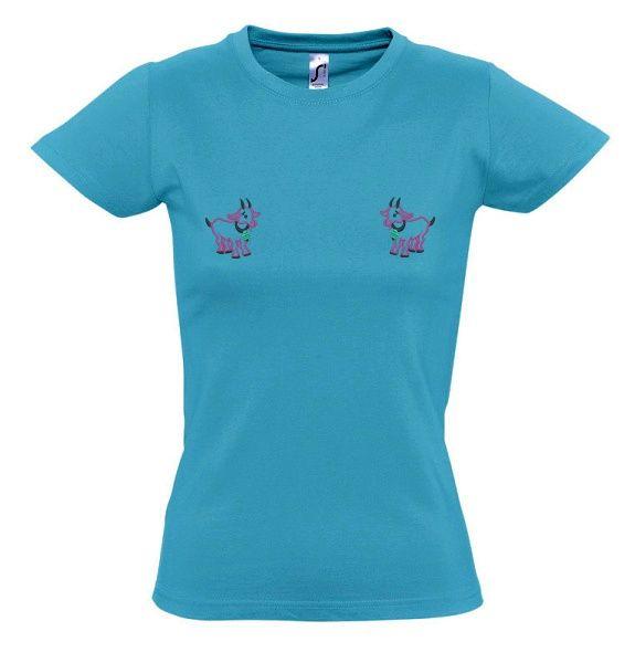 Tričko s kozičkami dámské