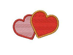 Nášivka Dvě srdce V1