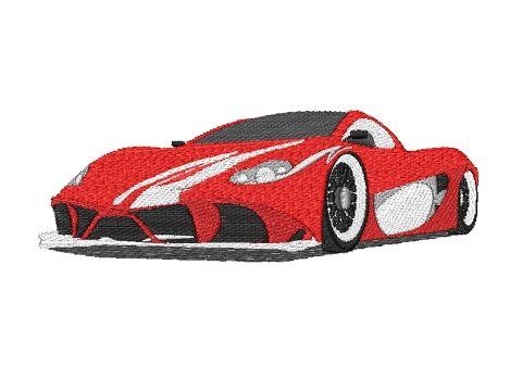 Výšivka Ferrari