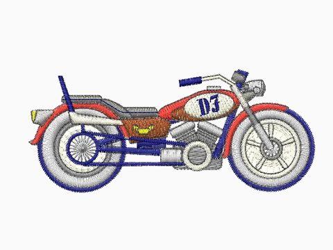 Výšivka Motorka - 6
