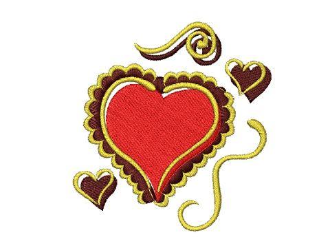 Výšivka Srdce 2
