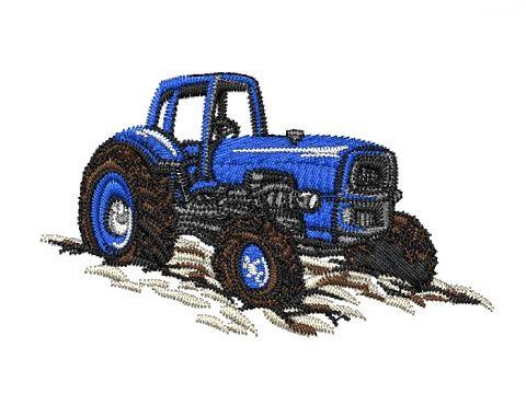 Výšivka Traktor