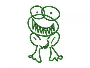 Výšivka Žába