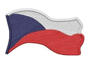 Česká vlajka vlající