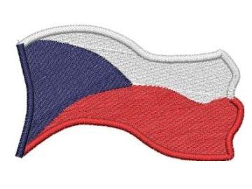 Česká vlajka vlající Pelisport