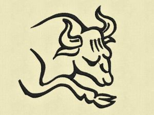 Výšivka zvěrokruh Býk