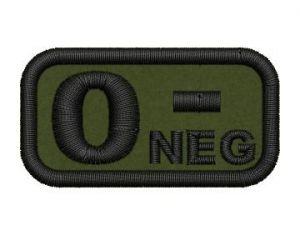 Krevní skupina 0 neg