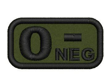 Nášivka krevní skupina 0 neg